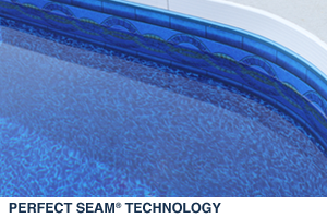 Sample of Perfect Seam Technology for No Visable Sidewall Seam in your Pool Liner