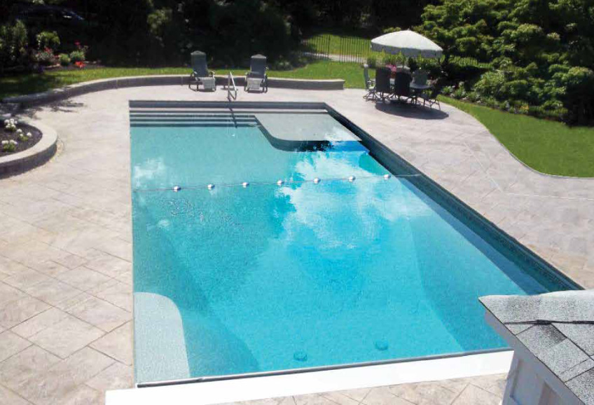 Rectangle Matrix Polymer Inground Pool Designs and Inground Pool Packages