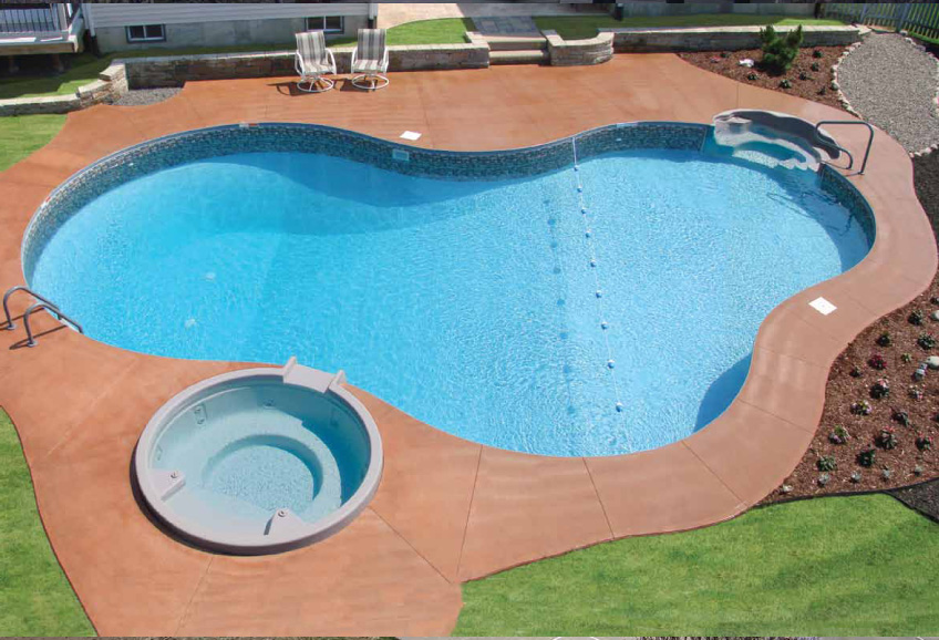 Matrix Polymer Mountain Lake Inground Pool Designs