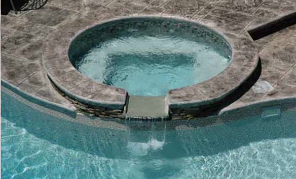 Custom Built-in Spillover Spas for Inground Pools
