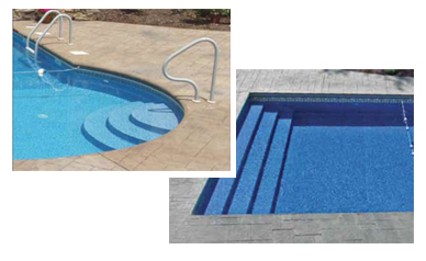 Luxury Pool Entry Systems for Polymer Inground Pools